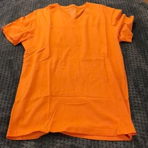 Orange J Crew Broken In Tee V Neck